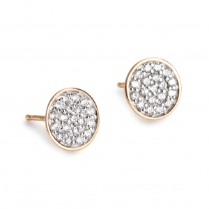 18 carat rose gold and diamonds  earrings Ginette NY