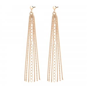 18 carat rose gold earrings by Ginette NY