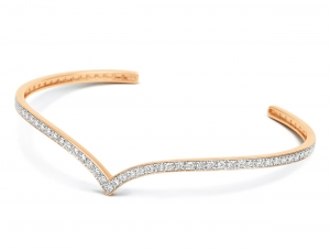 18 carat rose gold and diamonds bangle<br>by Ginette NY