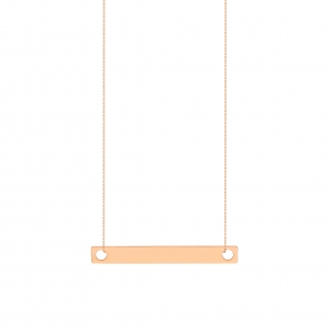 18k rose gold necklace<br>by Ginette NY