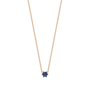 18 carat rose gold necklace and sapphires <br>by Ginette NY