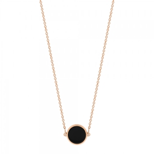 18 carat rose gold necklace and black onyx<br>by Ginette NY