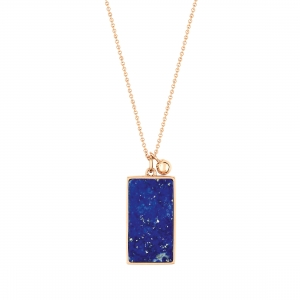 collier or rose 18 carats et lapis    by Ginette NY