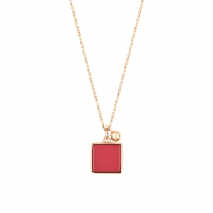 collier or rose 18 carats et jaspe rouge  by Ginette NY