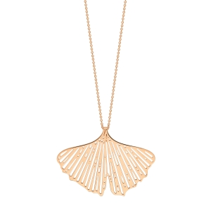 collier or rose 18 carats <br>by Ginette NY