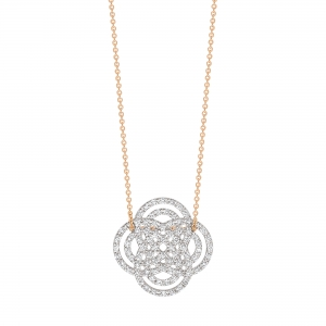 18 carat rose gold and diamonds necklace by Ginette NY