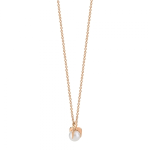 collier or rose 18 carats et perles<br>by Ginette NY