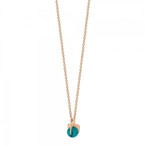 18 carat rose gold necklace and turquoise <br>by Ginette NY
