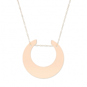 18 carat rose gold necklace   by Ginette NY