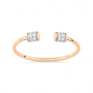 bague or rose 18 carats et diamants  by Ginette NY