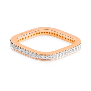 18 carat rose gold and diamonds  ring  Ginette NY