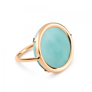 18 carat rose gold and amazonite by Ginette NY