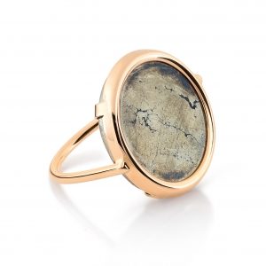 bague or rose 18 carats et pyrite by Ginette NY