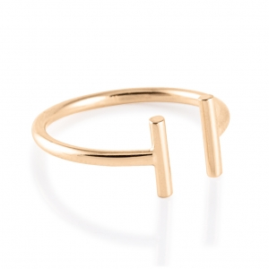 gold strip open ring