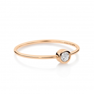 18 carat rose gold and diamonds ring<br>by Ginette NY