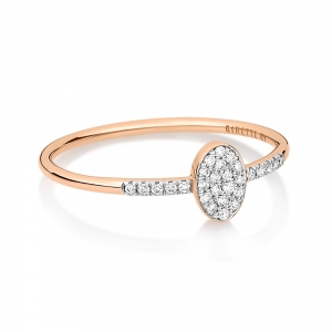 18 carat rose gold ring and diamonds <br>by Ginette NY