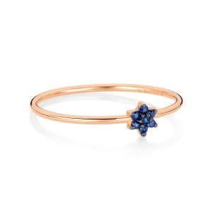 18 carat rose gold ring and sapphires<br>by Ginette NY
