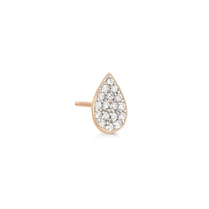 18 karat rose gold solo stud and diamonds<br>by Ginette NY