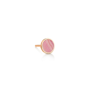 18 carat rose gold solo stud and rhodocrosite<br>by Ginette NY