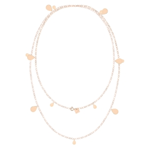 sautoir or rose 18 carats<br>by Ginette NY