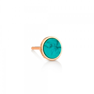 solo ever turquoise disc stud