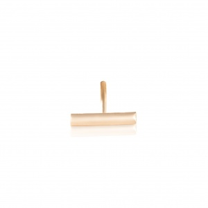 18 carat rose gold solo stud with diamonds<br>by Ginette NY