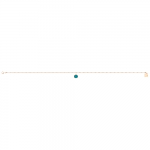ever turquoise disc ankle chain