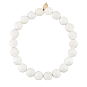bracelet or rose 18 carats et agate blanche<br>by Ginette NY