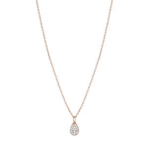 18 karat rose gold necklace and diamonds<br>by Ginette NY