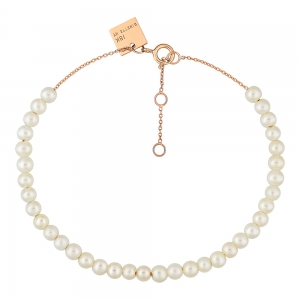 18 carat rose gold bracelet and pearls <br>by Ginette NY