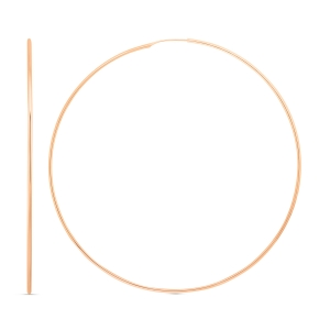 18 carat rose gold jumbo hoops<br>by Ginette NY