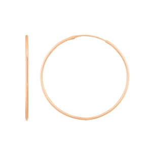 18 carat rose gold hoops<br>by Ginette NY