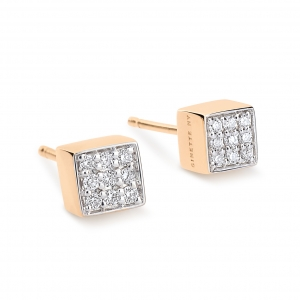 18 carat rose gold and diamonds  earrings by Ginette NY
