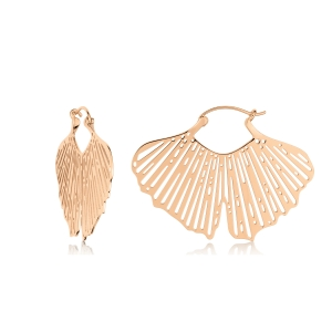 boucles d'oreilles or rose 18 carats <br>by Ginette NY