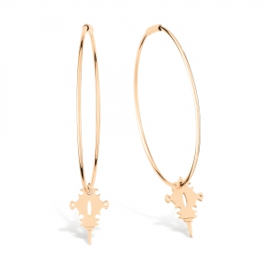 boucles d'oreilles or rose 18 carats by Ginette NY