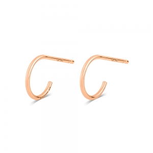 boucles d'oreilles or rose 18 carats<br>by Ginette NY
