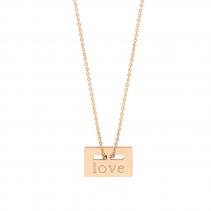 18 carat rose gold necklace Ginette NY