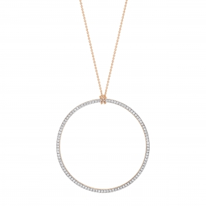 18 carat rose gold  and diamonds necklace Ginette NY