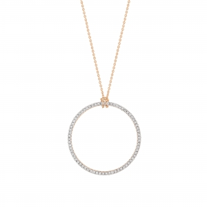 collier or rose 18 carats et diamants     by Ginette NY