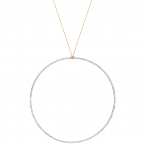 18 carat rose gold jumbowith diamonds<br>by Ginette NY