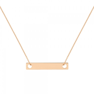 collier or rose 18 carats   by Ginette NY