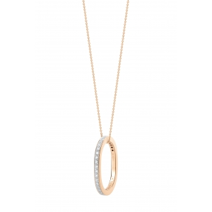18 carat rose gold necklace with diamonds<br>by Ginette NY