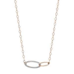 18 carat rose gold necklace and diamonds <br>by Ginette NY