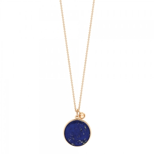 18 carat rose gold necklace and lapis <br>by Ginette NY