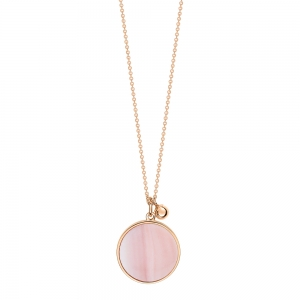 18 carat rose gold necklace and pink MOP <br>by Ginette NY