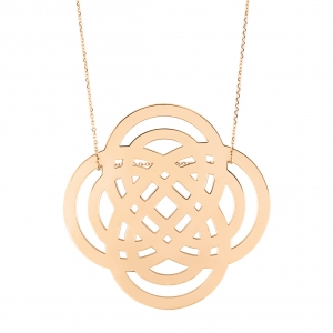 18 carat rose gold necklace<br>by Ginette NY