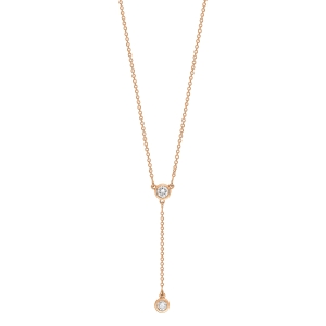 18 carat rose gold and diamonds necklace<br>by Ginette NY