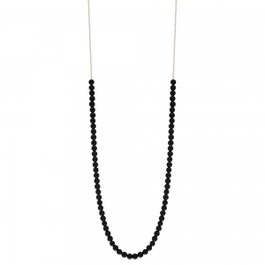 18 carat rose gold necklace and black onyx <br>by Ginette NY