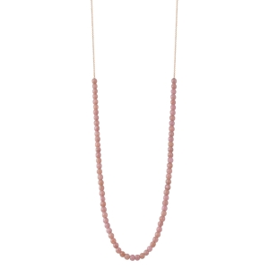 18 carat rose gold necklace and rhodochrosite<br>by Ginette NY