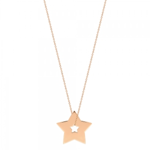 collier or rose 18 carats<br>by Ginette NY